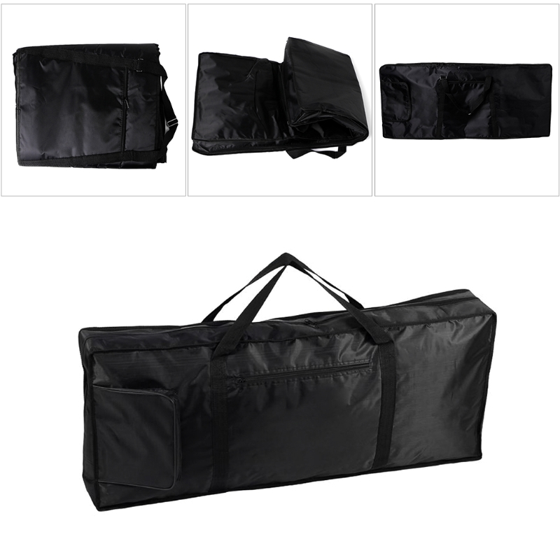 все цены на Portable 61Key Music Piano Keyboard Carry Case Bag 420D Waterproof Oxford Cloth онлайн