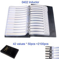 2100pcs/set 0402 SMD Inductance Inductor Sample Book Assortment Kit 42value x 50pcs