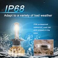 canbus שגיאה חינם 2pcs H7 H11 H8 H9 9005 9006 H4 LED רכב נורות 80W מוארת פנס מנורה CANbus שגיאה חינם מפענח 4-צדי אורות ערפל אוטומטי זוהר (3)