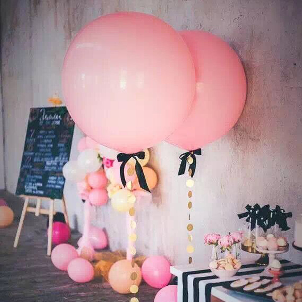 36inch Jumbo Balloon PINK BALLOON Giant Balloon Baby Shower Wedding ...