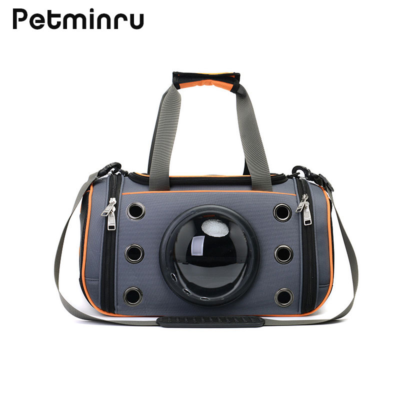 Petminru Breathable Pet Handbag Dog Shoulder Carrier Bags Portable Outdoor Cat Dog Carrier Folding Teddy Travel Space Bag