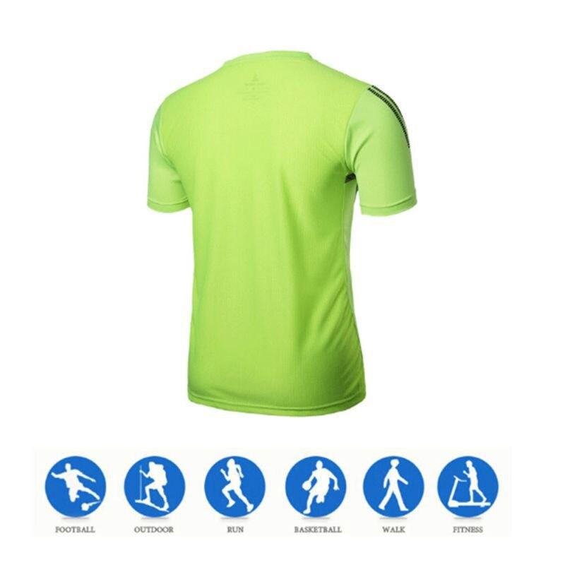 Новый летний футболка мужчины повседневная Быстрый сухой fit рубашки стрейч тройник мужчины crossfit топы