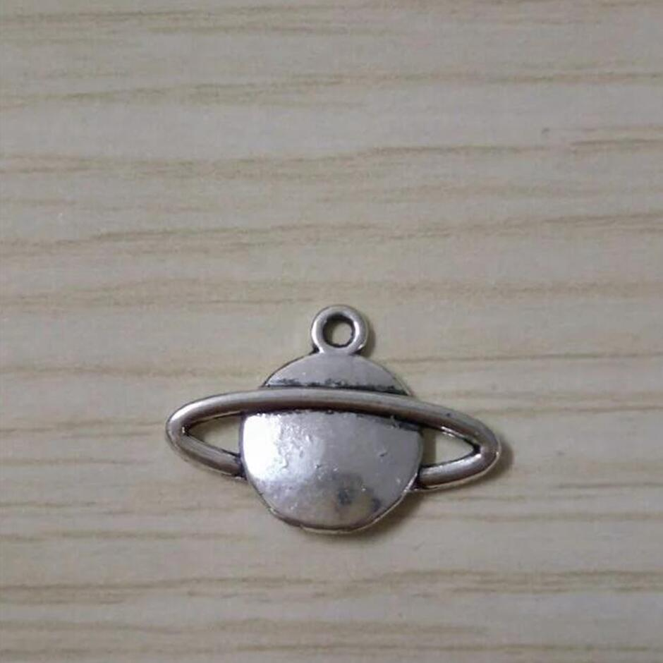 Clover Charm//Pendant Tibetan Antique Silver 15mm  10 Charms Accessory Jewellery