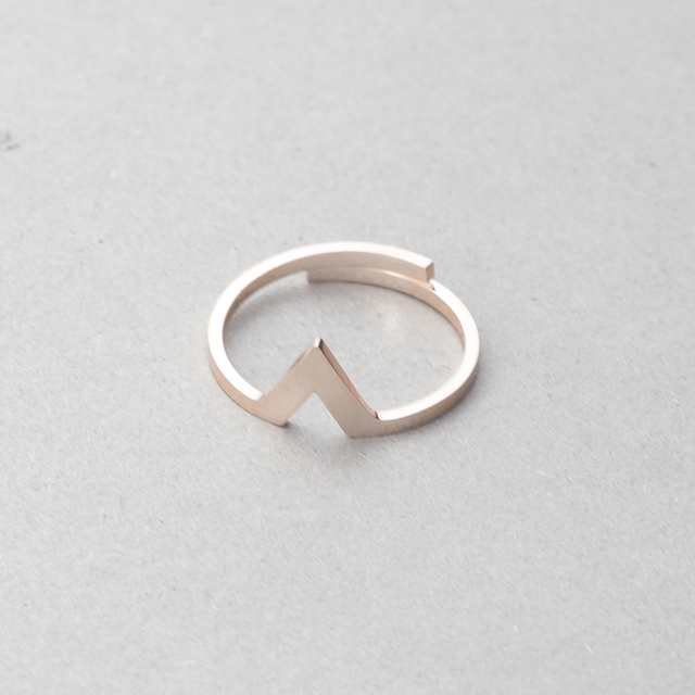 Stainless Steel Anillo Hombre Geometric Minimalism Jewelry Rose Gold Color Exqui