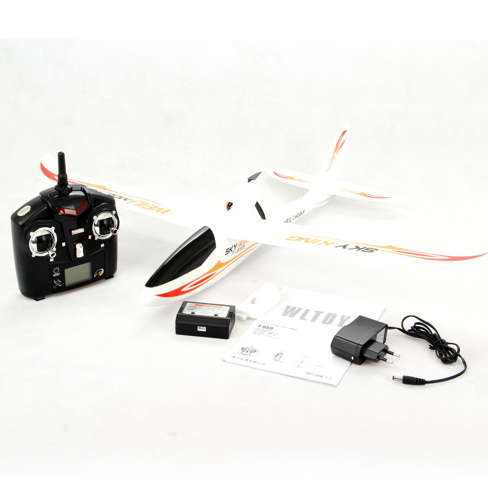 Orignial Wltoys F959 Sky King 3CH RC Airplane Push-Speed Glider Fixed Wing Plane Remote Control Airplane wltoys f949 3ch rc airplane spare parts main wing and buckle set