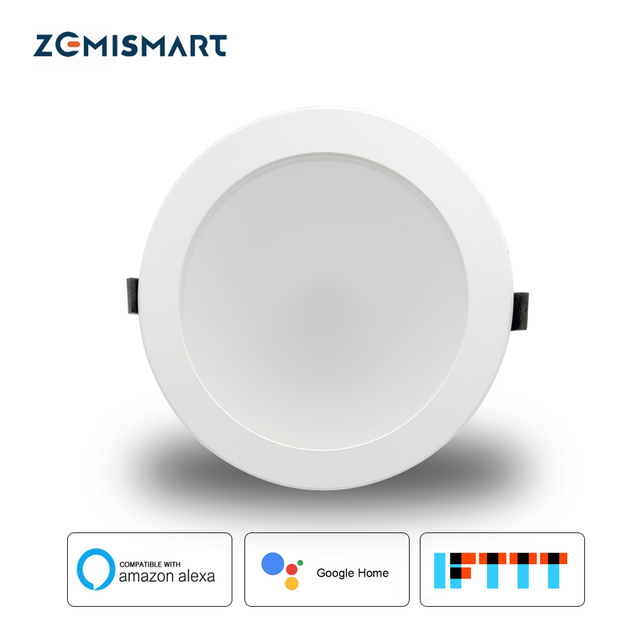Zemismart 6 inch WiFi RGBW Led Downlight Ceiling Light 10w Voice Control by Alexa Google Home Home Automation IFTTT
