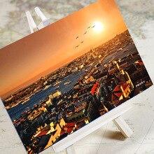 """6 шт./партия """"Очаровательная городская серия-Турция"""" открытка с декором/поздравительная открытка/рождественские подарки"""