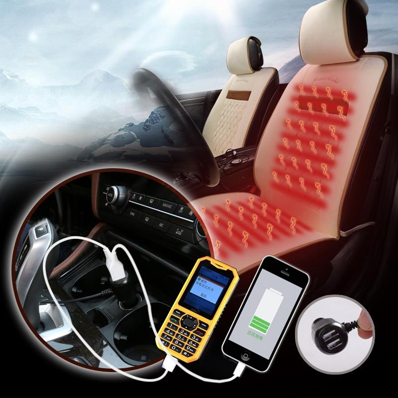 winter Heated Car Seats 12V Universal Heated Cushion For BMW Audi Toyota Honda Ford Hyundai All Sedan Car Styling