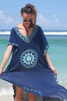 Black Beach Dress Summer Long Embroidery Loose Beach Wear Dresses African Dress Styles Boho Dresses Chic Vestidos De Playa Frock