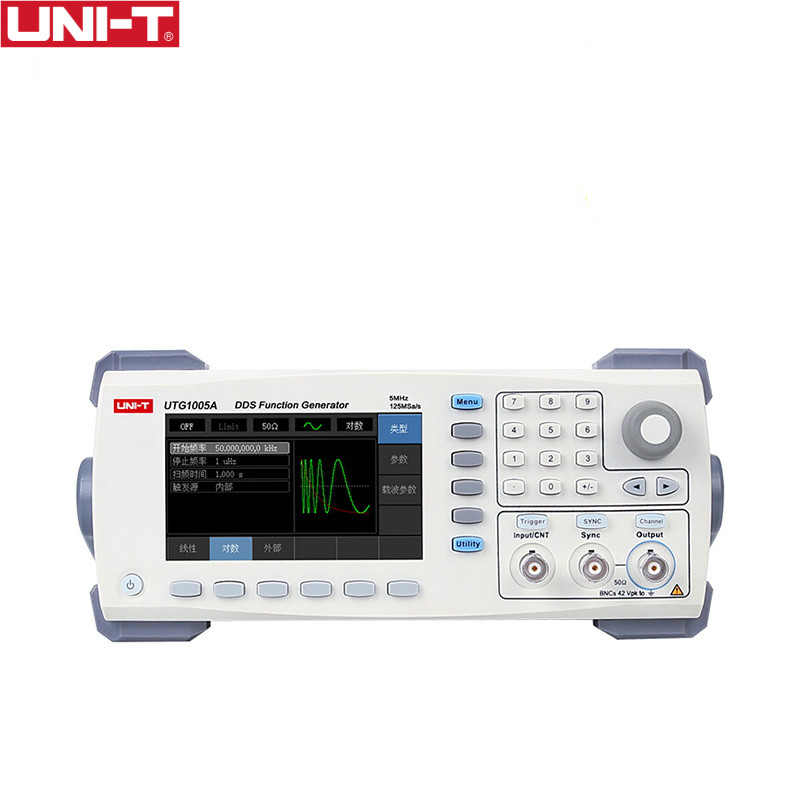 UNI-T UTG1005A function/arbitrary waveform generator/single channel/5MHz channel bandwidth/125MS/s sampling rate цена