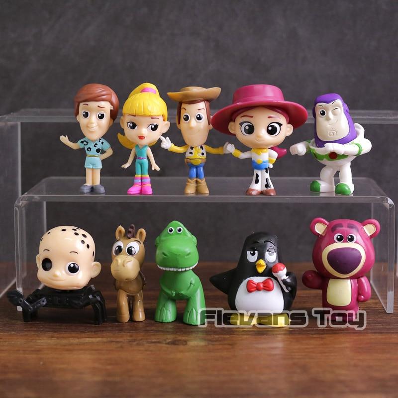 Toy Story Woody Buzz Lightyear Jessie Rex Bullseye Lotso dibujos animados  PVC figuras juguetes 10 unids set - Memang Store e763404588c