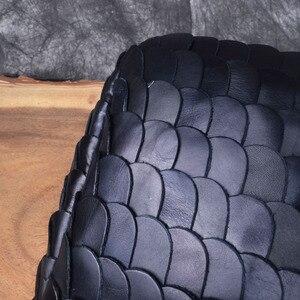 Image 2 - AETOO Retro fashion winter big bag portable fish scales sheepskin handbags fashion Europe shopping fashion handbags