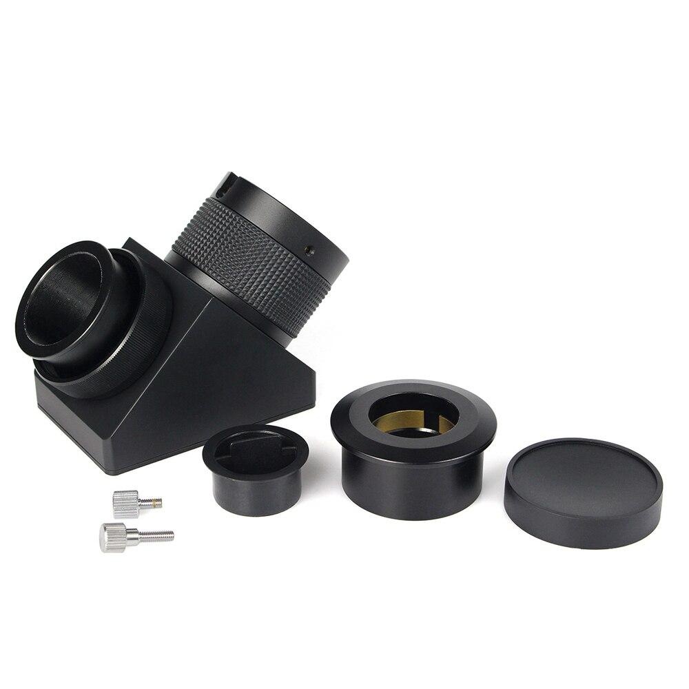 2 90 Deg 99% Diélectrique Miroir Diagonale Conçu pour SCT Télescope Monoculaire Astronomie w/Caoutchouc Anti Slip Anneau m0091