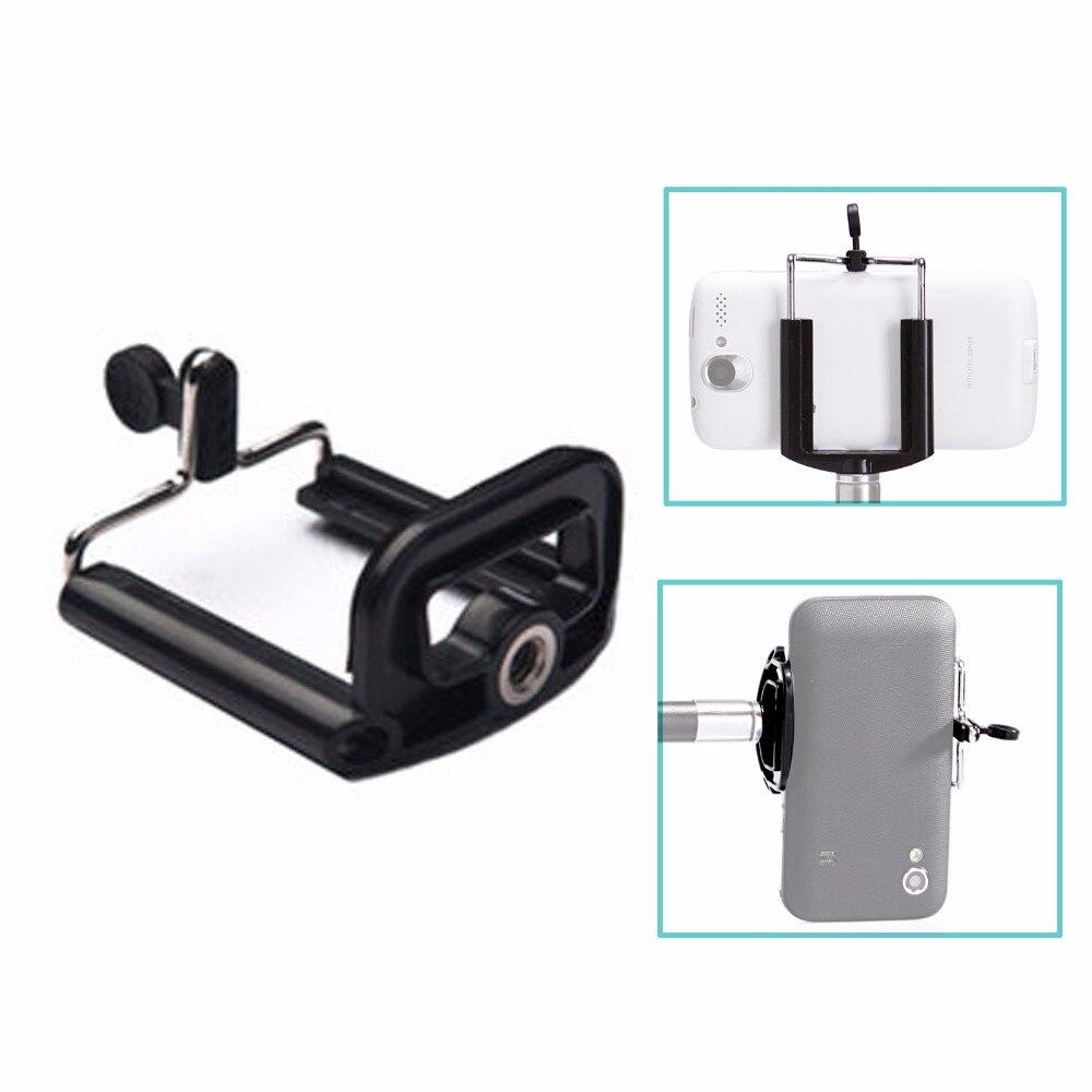 Camera Tripod Holder Monopod Mobile Phone Adjustment Holder Stand Selfie Stick Mount Clips Bracket