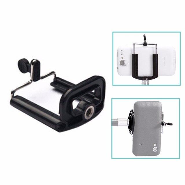 カメラの三脚ホルダー一脚携帯電話調整ホルダースタンド Selfie スティックマウントクリップブラケット