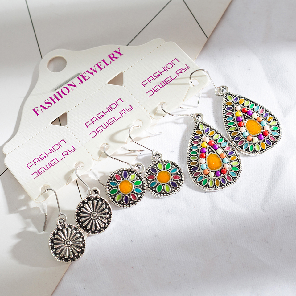 WoW 3 Pairs/Set Vintage  Earrings for Women   1