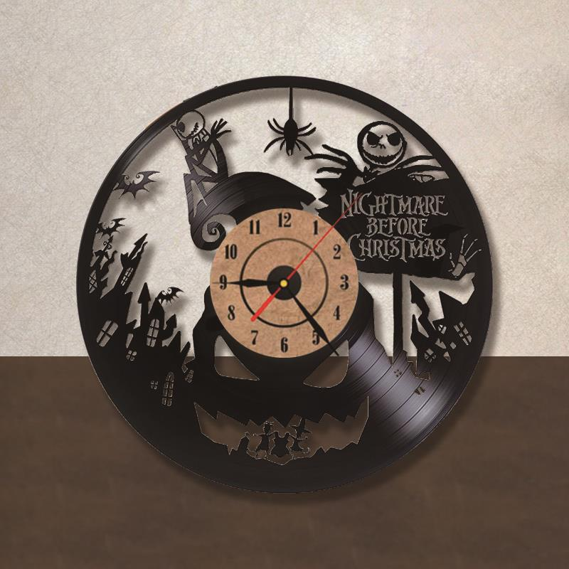 Online Shop The Nightmare Before Christmas Theme Record Clock 3D ...