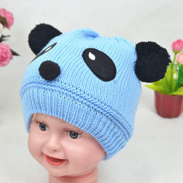 bd228872758 placeholder 3 months to 3 years old winter baby boy girl panda hat children hat  knit hat