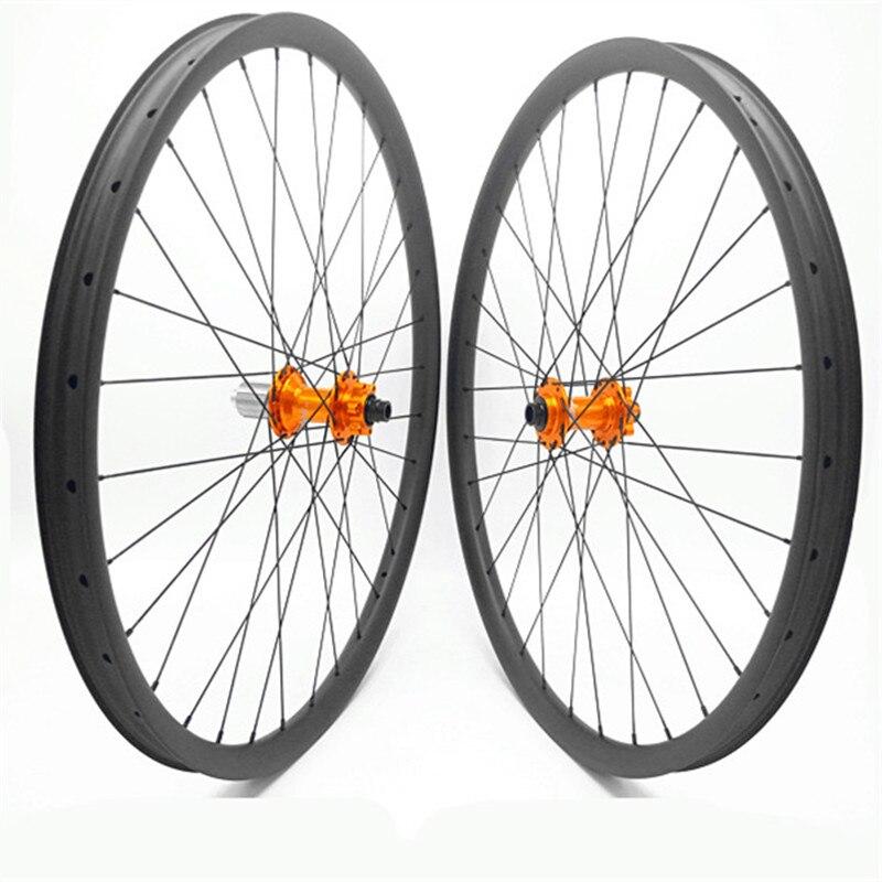 29er disco de carbono mtb rodas mtb rodas de bicicleta esperança pro4 impulso 110x15 148x12 disco mtb rodas de bicicleta 35x25mm largura 1420 raios