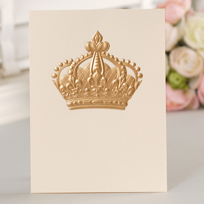 12set fairy tale theme crown Card leave message cards Lucky Love valentine Christmas Party Invitation Letter envelope