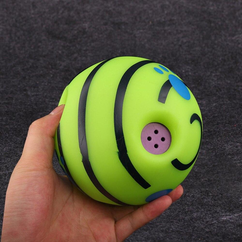 15 cm mascotas perros gatos jugando bola Wobble Wag Giggle Ball entrenamiento seguro Bola con sonido divertido muy divertido juguete regalo para mascotas perro