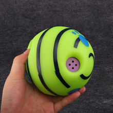 15cm Pet Dogs Cats Playing Ball Wobble Wag Giggle Ball Safe Training Ball With Funny Sound Great Fun Toy Gift For Pet Dog magideal horse toy game ball with apple scent pet joy fun horse stable and yard toy
