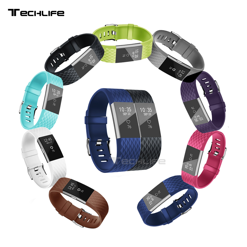 Silicone Watchband For Fitbit Charge 2 Band Replacement Watch Band Wrist Strap For Fitbit Charge2 Bands Smart Wristband fitbit watch