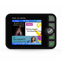 USB 2.4 นิ้วจอแสดงผล LCD Car DAB/DAB + วิทยุอะแดปเตอร์บลูทูธ SD Card FM ฟังก์ชั่นการเล่นการออกอากาศ FM Transmitter