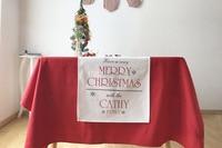 ل عيد الميلاد القطن الجدول عداء الجدول القماش مطعم مقهى الديكور المنزل 1 قطع السعر شحن مجاني