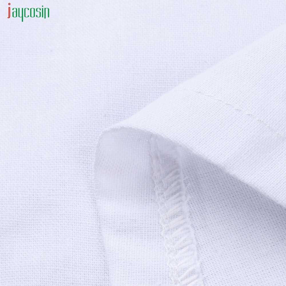 Jaycosin Vestidos Sem Mangas das Mulheres Plus Size Algodão Solto Natural Balanço Sólido Branco Vendas Quentes Vestidos De Festa De Verão Novo