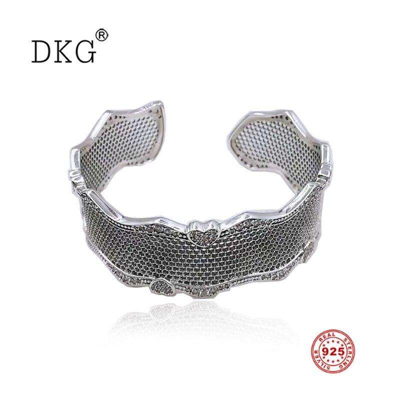 Nouveau 925 en argent Sterling nid d'abeille dentelle Pan avec CZ clair pour les femmes de base Bracelet Fit perle Bracelet charme bijoux à bricoler soi-même pour les femmes