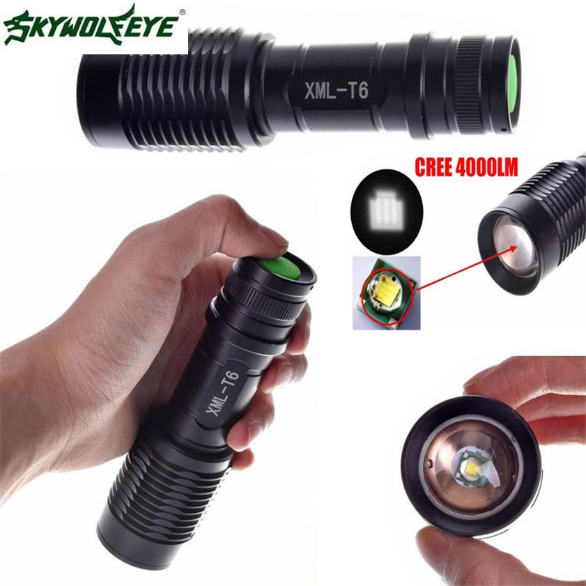 все цены на High Quality 4000LM Zoomable  XML T6 LED 5 Modes Police Flashlight Lamp Torch онлайн