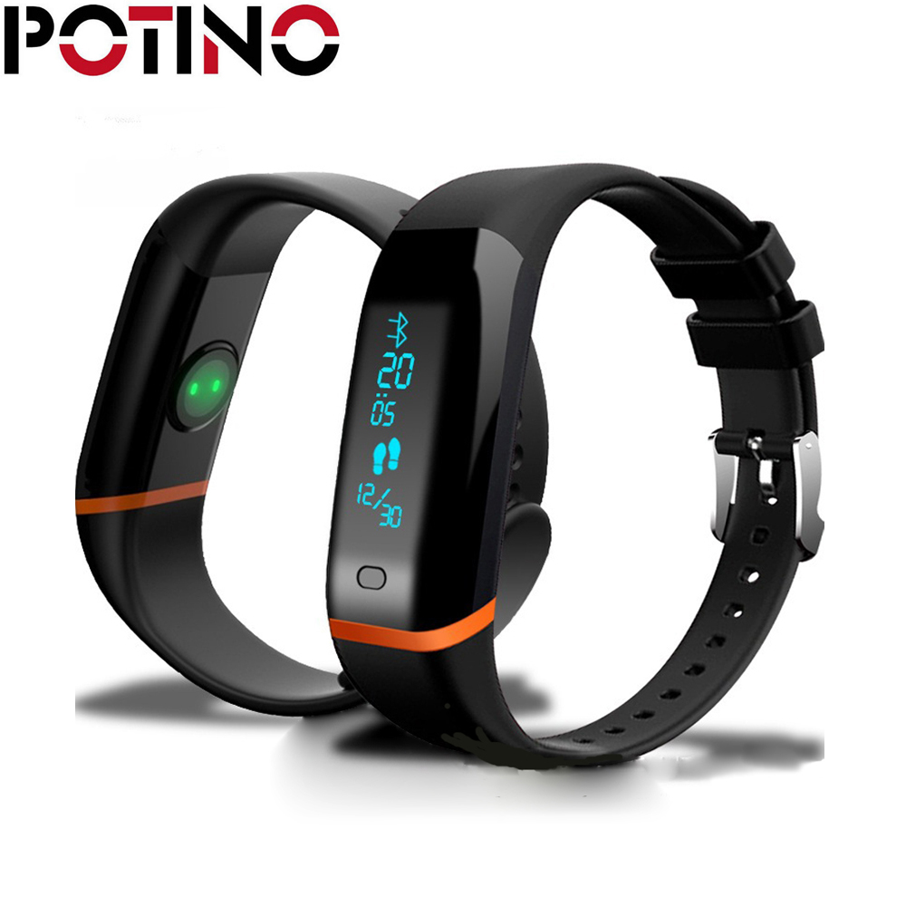 POTINO X12 Smart Band Heart Rate Monitor Fitness Tracker Bracelet PassometerSmart Wristband for iOS Android Smart