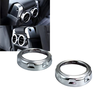 Car Styling 2 Pcs Chrome Rear Armrest Box Air Conditioning Trim Cover For Land Rover Range