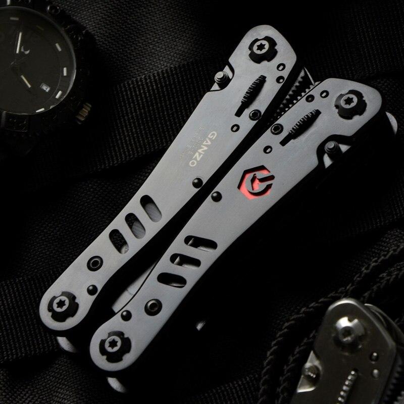 Ganzo G302B Multi Tools Folding Knife Outdoor Camping Multitool G302 Folding Knife EDC Kit Mini Scissors Screwdriver Bits