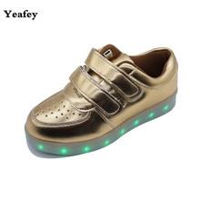 Yeafey Luminous Sneakers Women Illuminated Glowing Shoes Led Children Girl Shoes Kids Sneakers Lights Bambas Tenis