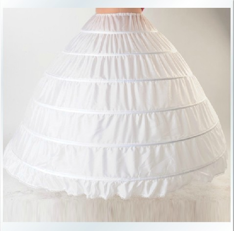 WA1001 2016 New White Hot sale Wholesale - High Quality Six--Hoops Ball Gown Petticoat Wedding Accessories Bridal Petticoat