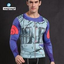 Wangcangli аниме косплей футболка с длинными рукавами Наруто Мужская футболка Crossfit одежда мультфильм сжатия костюм футболка карты Garcia