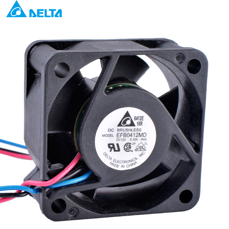 DELTA EFB0412MD <font><b>4020</b></font> 40x40x20mm 40mm fan <font><b>12V</b></font> 0.10A 3-wire 3pin H3C 3600 switch cooling fan image