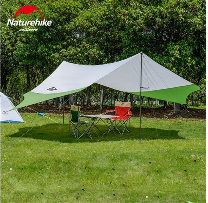 Naturehike Outdoor Event Tent Party Beach Large Camping Tents Shelter The Sun Waterproof Lightweight Waterproof Sunscreen Campin outdoor double layer 10 14 persons camping holiday arbor tent sun canopy canopy tent