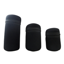 S/M/L Size Durable Camera Lens Bag Pouch Protective Black Neoprene Cover Case For DSLR Lens
