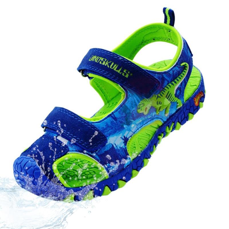 Boys Shoes 2019 Summer Anti-Slip Children's Shoes Anti-impact Boys Sandals Children Beach Sandals Kids 3D Dinosaur Sandals