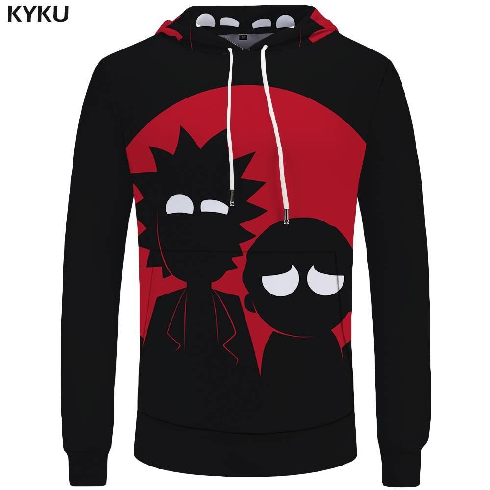 KYKU Brand Rick And Morty Sweatshirts Rick Pocket Cartoon 3d Hoodies Sweatshirt Big Size Mens Clothing