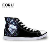 Men Casual Shoes 2016 Fashion Canvas Shoes Cool 3D Animal Black Leopard Printing Shoe Boy Student