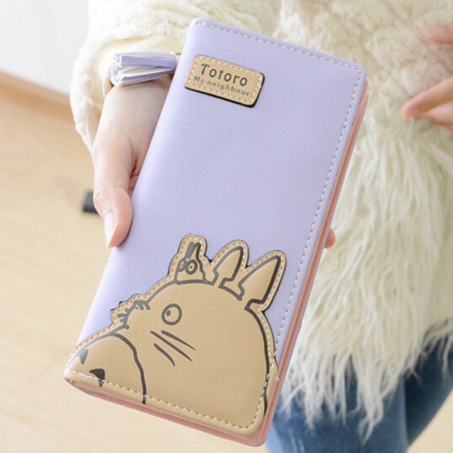 2017 My Neighbor Totoro Femme Zip Two Fold Long Wallet Purse – 5 Colors Available