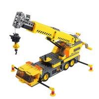 KAZI 8045 City Construction Crane Lift Derrick Model Building Blocks Educational Toys For Children Xmas Gift