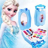 Filles congelées neige princesse elsa anna beauté maquillage jouets avec boîte vernis à ongles fard à paupières Blush jouer maquillage mode jouets