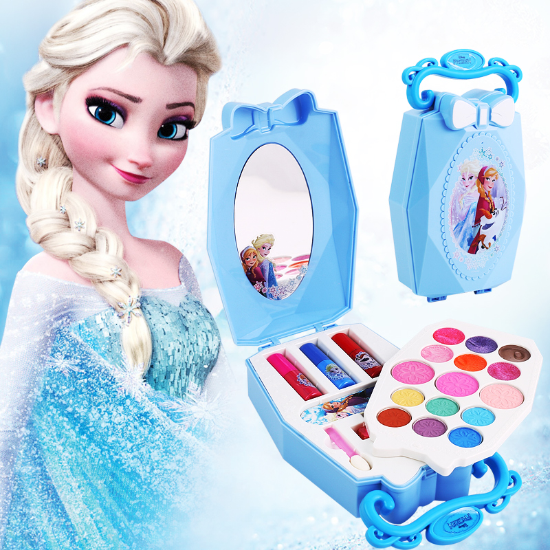 Girls Frozen Snow Princess Elsa Anna Beauty  Makeup Toys With Box Nail Polish Eyeshadow Blush Play Makeup  Fashion Toys