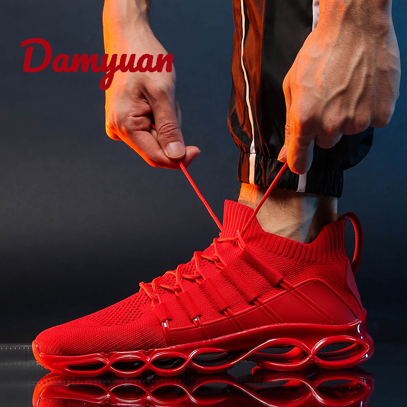 New Damyuan 2019 New Fashion Shoes Men Flyweather Comfortables Breathable Non-leather Casual Lightweight Shock Absorption Mesh Shoes