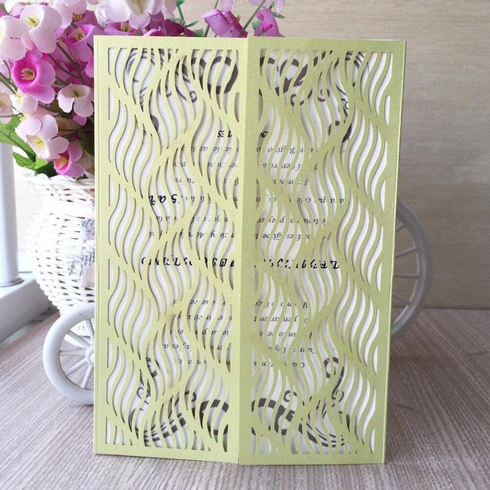 50pcs New Laser Cut Shiny Glossy Paper Pattern Postcard Wedding ...